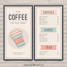 coffee shop menu template retro cafe menu template vector free