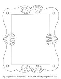 portrait frame coloring pages