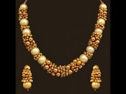 different types of golden necklace