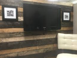 pallet wood wall covering a cubicle wall cubicle decor