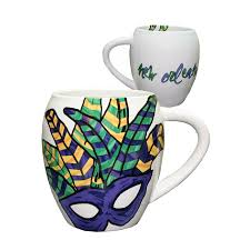 mardi gras mask and abstract feather mardi gras mask coffee mug