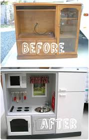 kids play kitchen from old tv stand u2022 recyclart