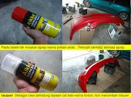fire starting automobil diy spray bumper dan grip handle pintu kereta