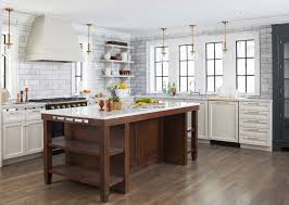 Wood Cabinet Kitchen Brilliant Kitchen Backsplash No Upper Cabinets Design Ideas