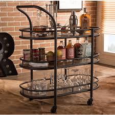 wholesale interiors baxton studio karlin bar cart u0026 reviews wayfair