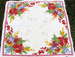 Sharons Antiques Vintage Fabrics Vintage Kitchen Tablecloths - Table cloth design
