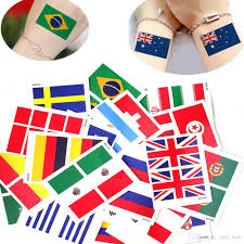 Two Flag Tattoos 2018 Dhl National Flag Tattoo Sticker For 2018 Russia World Cup