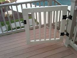 How To Build A Deck Handrail Gate Kits For Vinyl Deck And Porch Railing