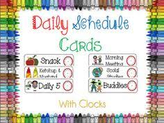 daily schedule cards free and 2nd grade back to packet