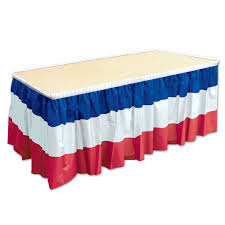 bulk party supplies 6ct beistle patriotic table skirting bulk party supplies