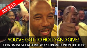 John Barnes Football Song John Barnes Performs World In Motion On London Underground With