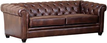 Chestnut Leather Sofa One Royal 86 Tufted Leather Sofa Chestnut Leather