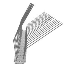 3 3 feet 1 meter pigeon spikes for gutter 2 rows on