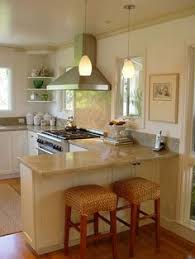 Small Kitchen Remodel Images Love The Idea Of Putting A Mirror Under Bar Peninsula Really