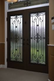 Metal Cabinet Door Inserts Classic Style Wrought Iron Door Inserts Entry Toronto By