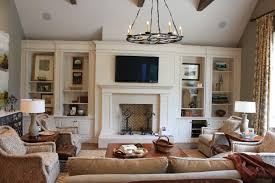 Living Room Traditional Ideas With Fireplace And Tv Eiforces - Family room versus living room