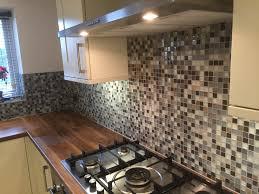 Mosaic Tile Backsplash Kitchen Ideas Kitchen Nice Butcher Block Home Depot For Nice Kitchen Ideas