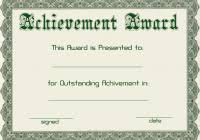 certificate of achievement free template best and various