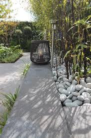 pale grey tropical influence bamboo large pebbles wire