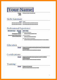 Resume Templates For Word 8 Word Document Resume Templates Doctors Signature