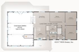 great room floor plans waterview great room addition post and beam floor plan