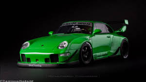 rauh welt porsche green porsche 911 type 993 rwb rough rhythm fcaminhagarage 1 18 youtube