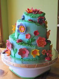 flower cake flowers and ladybugs cake mikaila s cakes