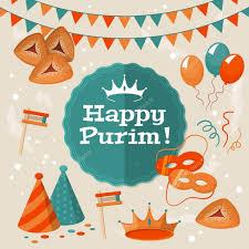 purim cards purim greeting card stock vector maglara 40340395