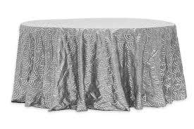 mermaid scales 120 tablecloth silver cv linens