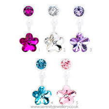 blomdahl earrings hypoallergenic blomdahl plastic flower dangle earrings