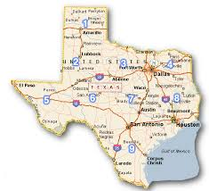 tecas map county maps cities towns color