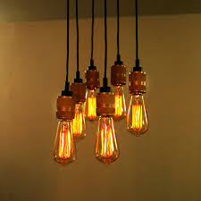 Retro Hanging Light Fixtures American Country Retro Edison Bulbs Pendant Lights 6 Heads Vintage