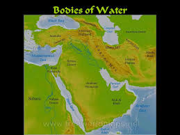 middle east map water bodies middle east or near east or southwest asia or ppt