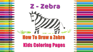 how to draw a zebra coloring pages alphabets coloring pages