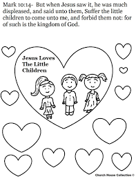 coloring pages jesus loves the little children coloring pages