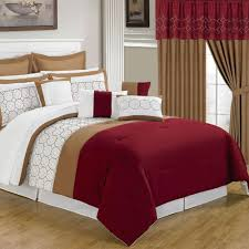 lavish home sarah red 24 piece queen comforter set 66 00008 24pc q