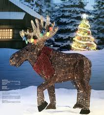 Costco Lighted Snowman by Outdoor Lighted Moose Ebay