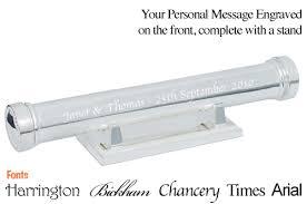 wedding certificate holder silver plated wedding certificate scroll holder