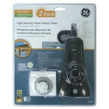 Outdoor Timer With Light Sensor - ge basic indoor light sensing outdoor timer model 13674