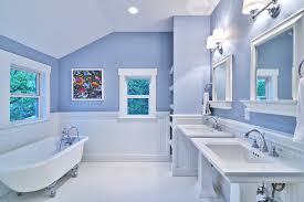 Bathroom Ideas Blue And White Blue And White Master Bath Cottage Style Craftsman Bathroom