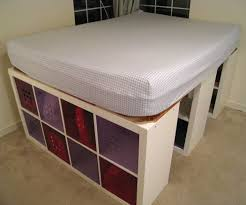 make a platform bed with storage from metal frame for queen 2018