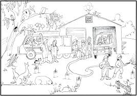 fire coloring pages kitchen safety prevention sheets preschool