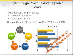 light template powerpoint pptx gears wheel technical