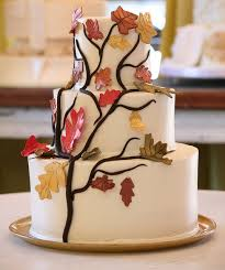 wedding cakes with fall leaves the wedding specialiststhe