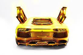 lamborghini gold german artist creates gold lamborghini aventador lp700 4 scale