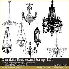 Chandelier Photoshop Brushes Chandelier Brushes And Stamps No 01 Katie Pertiet Brushes