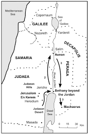 Map Of Canaan The Bible Journey 2 John The Baptist U0027s Journeys