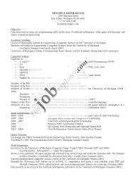 Computer Science Resume No Experience Resume Templates Resume Templates And Resume Manager Resume