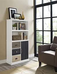 Bookcase With Doors White by Bookshelf Outstanding Bookcases With Doors And Drawers Cool