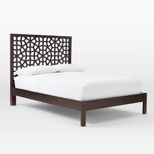 Headboard Bed Frame Morocco Bed Chocolate West Elm